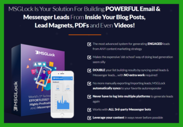MSGLock Review +Killer $5835 MSGLock BONUS +Discount +OTO details -The World's BEST Platform For Turning Content Into Leads & Profits