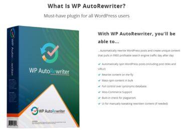 WP Autorewriter Review +Massive $6K Bonuses +Discount +OTO Info -Build Content Heavy Sites with Unique Articles