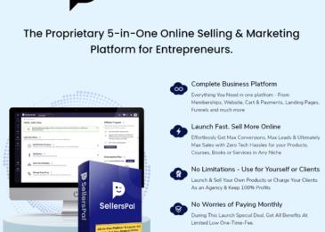 SellersPal Review +Huge $24K SellersPal Bonus +11% Discount +OTO Info – 5-in-1 online selling & marketing app